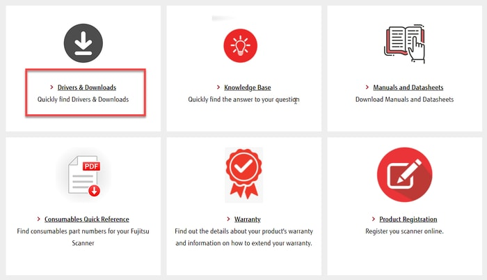 Choose Driver & Downloads for Fujitsu Driver