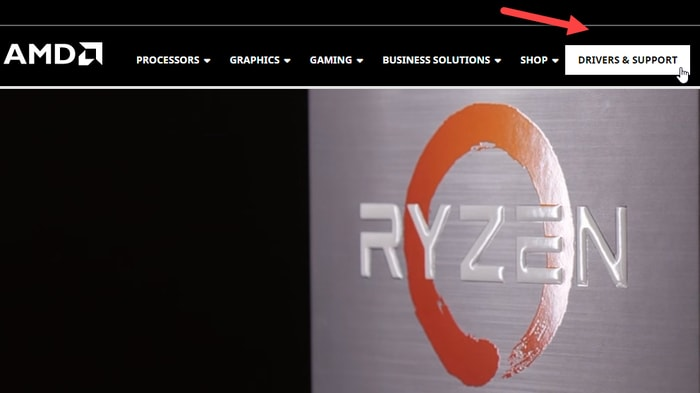 Drivers & Support Option on AMD Site