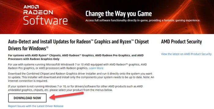 Download AMD Driver Auto-Detect Tool
