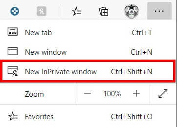 New Incognito Window in Browser
