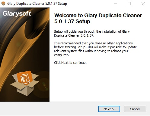 Glary Duplicate Cleaner Setup
