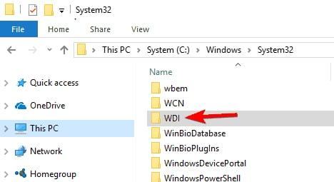 Choose WDI directory