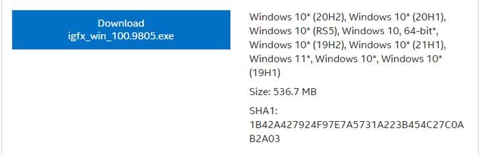 Download Intel Iris Plus Graphics 655 Driver