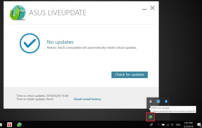 ASUS Live Update icon