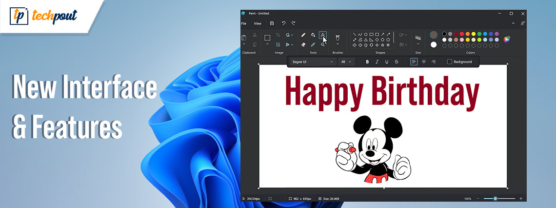 Microsoft Paint Will Get a New Interface and Tools in the New Window 11 Update