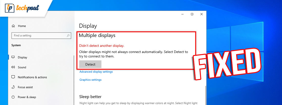 How to Fix Second Monitor Not Detected on Windows 10 [Solved]