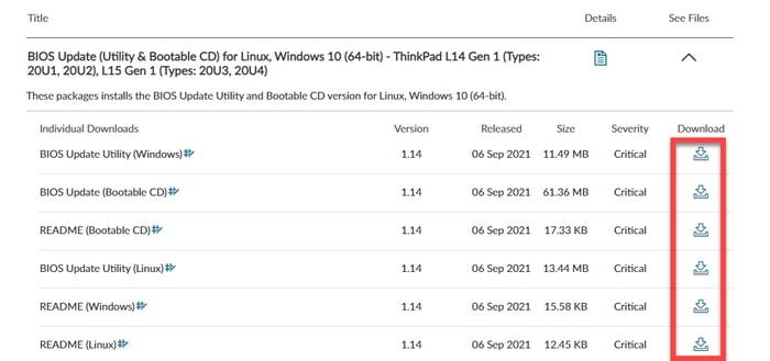 Download latest BIOS update
