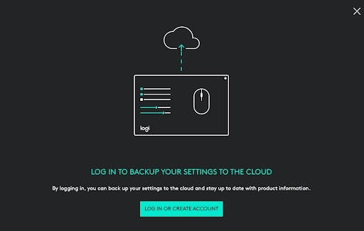 Log in to a Logitech account