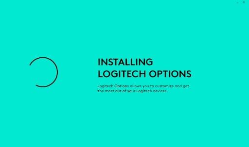 Installing Logitech Options