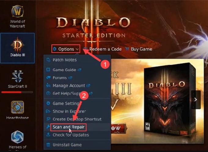 Scan and Repair Diablo 2
