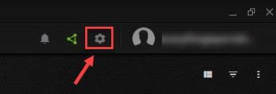 Click on GeForce Cogwheel Icon