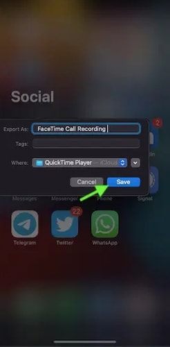Choose the Location and Save the Recording and Click on Save Button