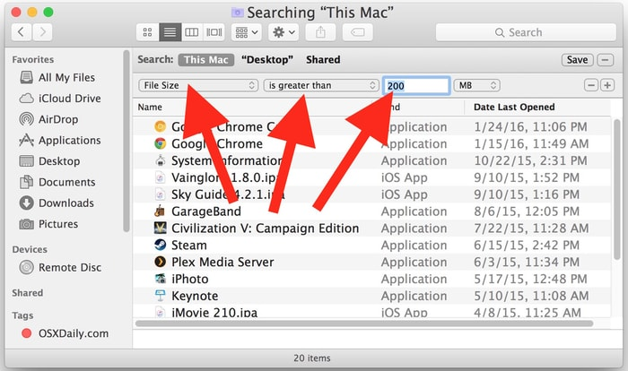 Search and Remove All the Old and Large Files On Mac