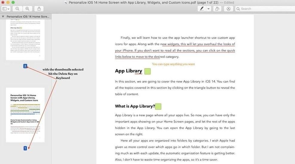 Remove and Delete the Key in PDF file