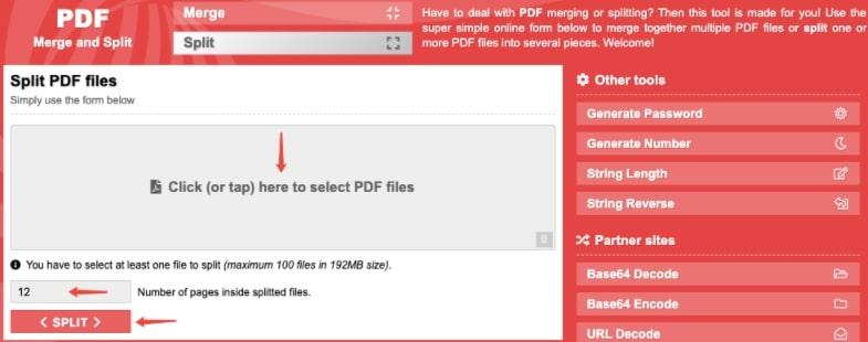 PDF Split and Merge - Online