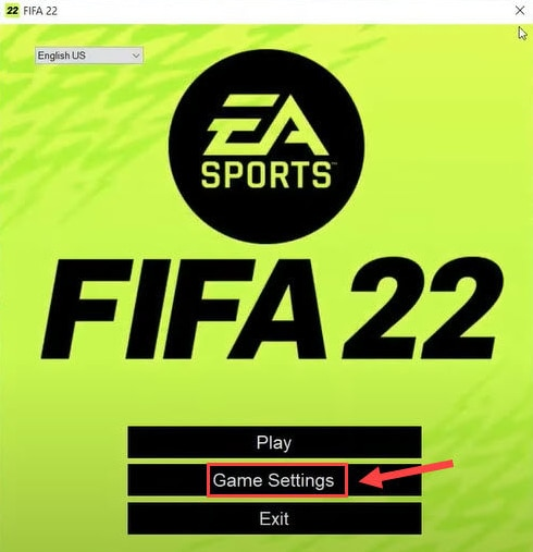 Click on FIFA 22 Game Settings