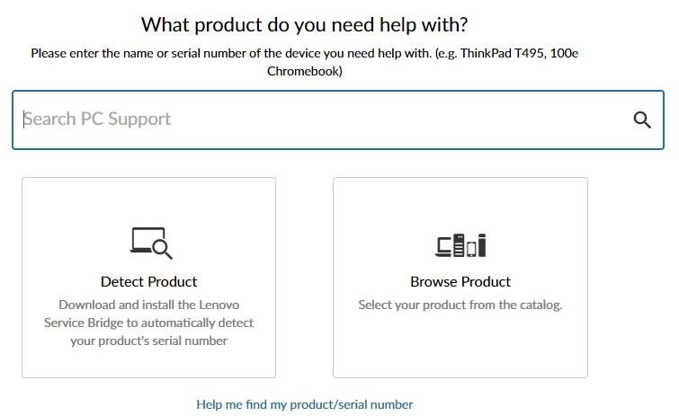 browse lenovo product